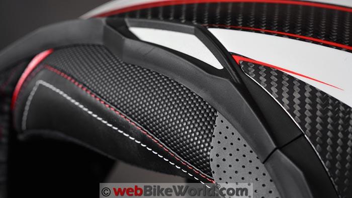 CMS GTRS Carbon Helmet Liner Close-up