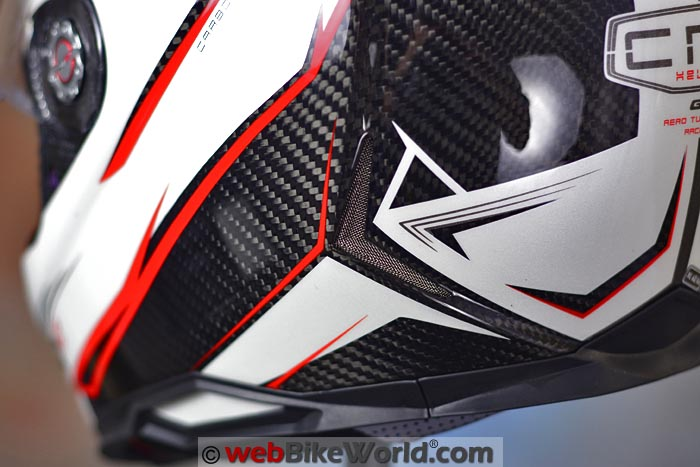 CMS GTRS Carbon Helmet Lower Rear Exhaust