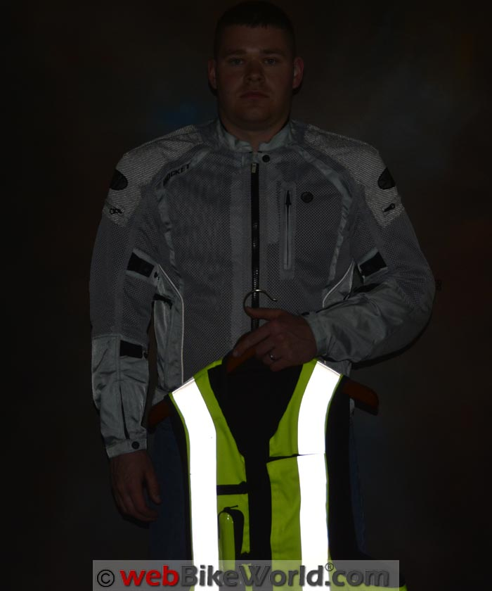 Joe Rocket Phoenix Ion Jacket Reflectivity With Vest