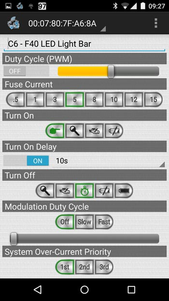 Motobrain Circuit Setting Screen