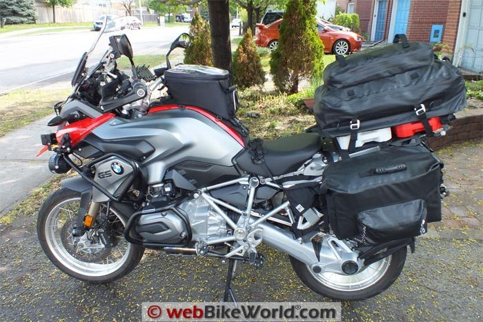 BMW R1200GS With SHAD Luggage