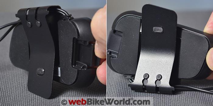 Cardo Packtalk Helmet Mount Rear View