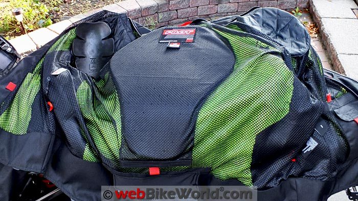 Pilot Visto Air Jacket Back Pad and Protectors