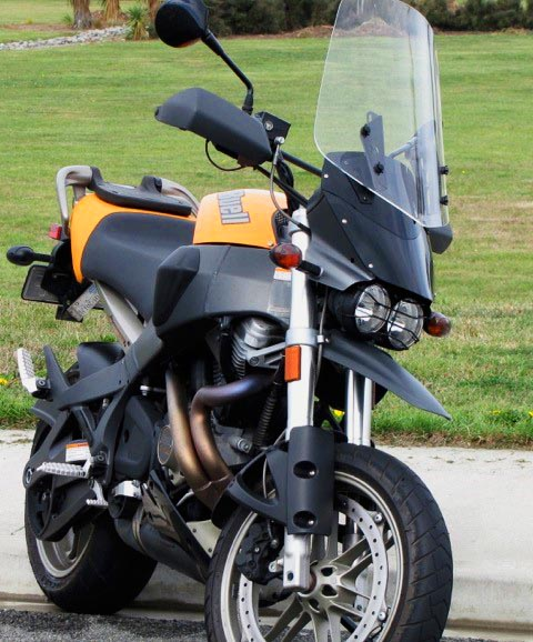 MADSTAD Windshield on Buell