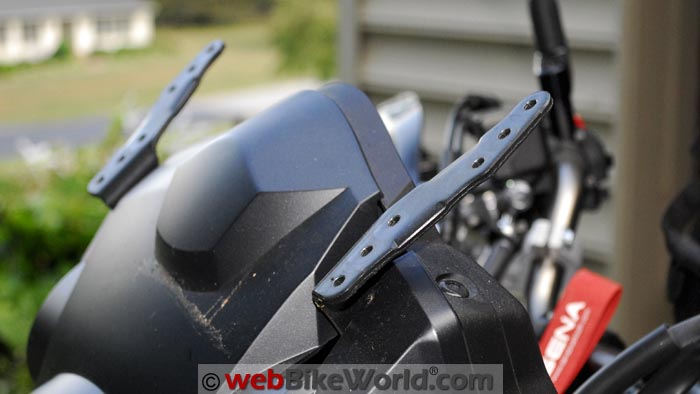 V-Strom Stock Windshield Mounting Brackets