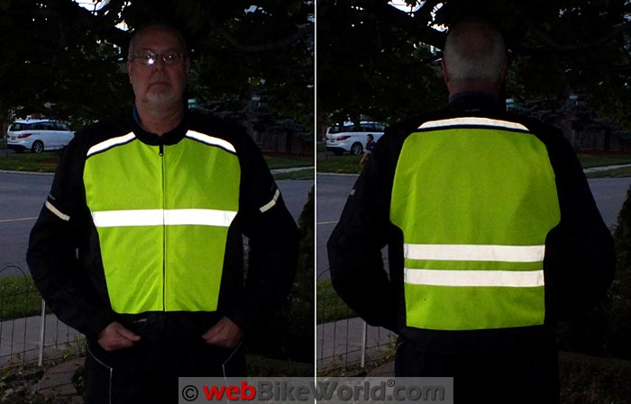 Vanguard Air High Visibility Vest Front Rear