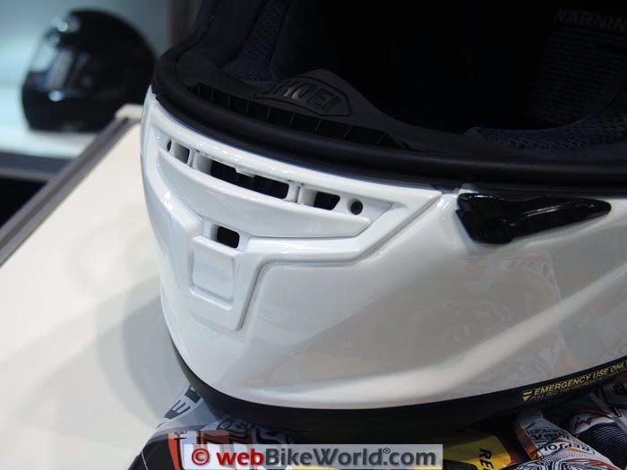 Shoei X-Fourteen Helmet Chin Vent