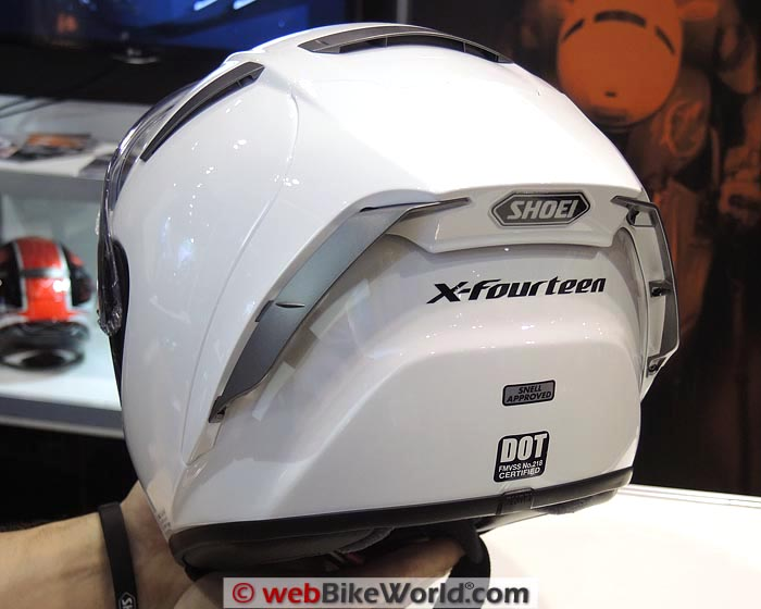 Shoei X-Fourteen Helmet Rear