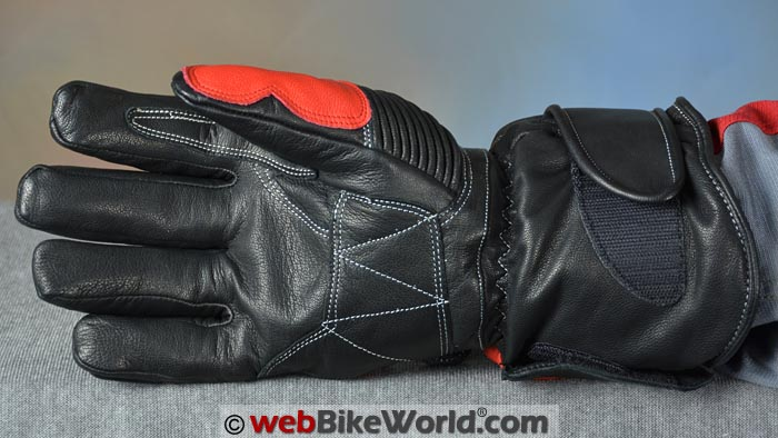 Warmthru Heated Motorcycle Gloves Palm