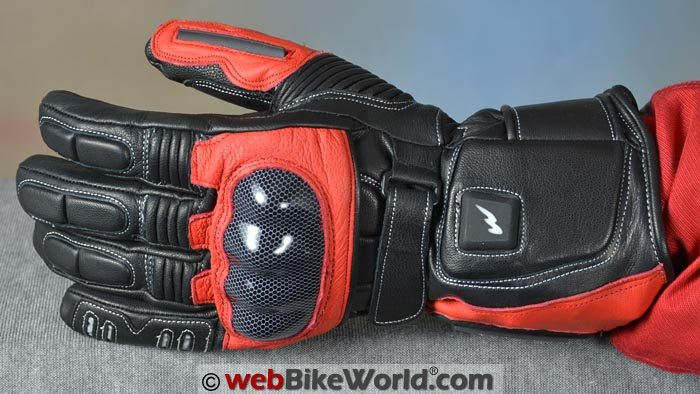 Warmthru Heated Motorcycle Gloves Top View