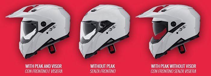 Caberg XTrace Helmet Configurations