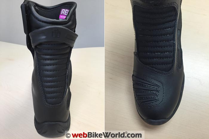 Icon Reign Waterproof Boots Front Rear Views