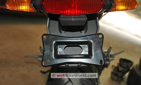 Ducati Multistrada - Rear reflectors removed