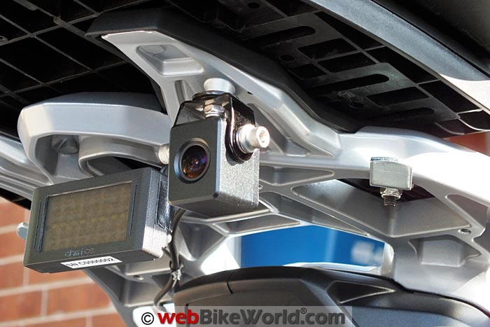 INNOVV K1 Rear Camera Mounted on Luggage Rack