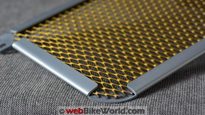 R&G Titanium Oil Cooler Guard Construction