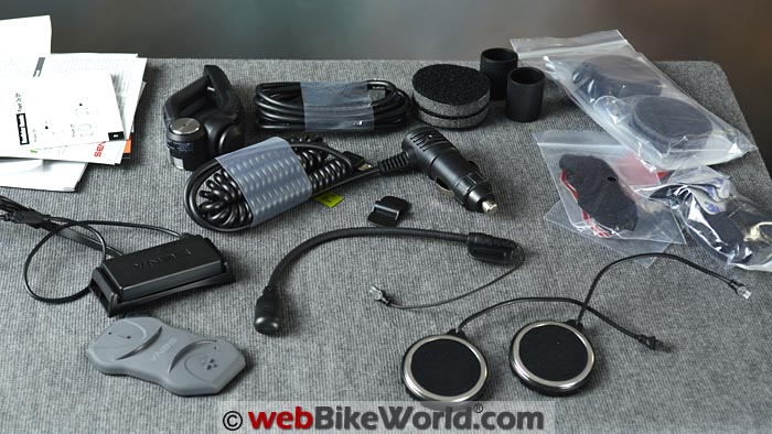 Sena 10R Kit Contents