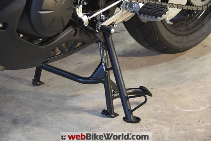 SW-Motech Center Stand Kawasaki Versys 650 With Side Stand Deployed