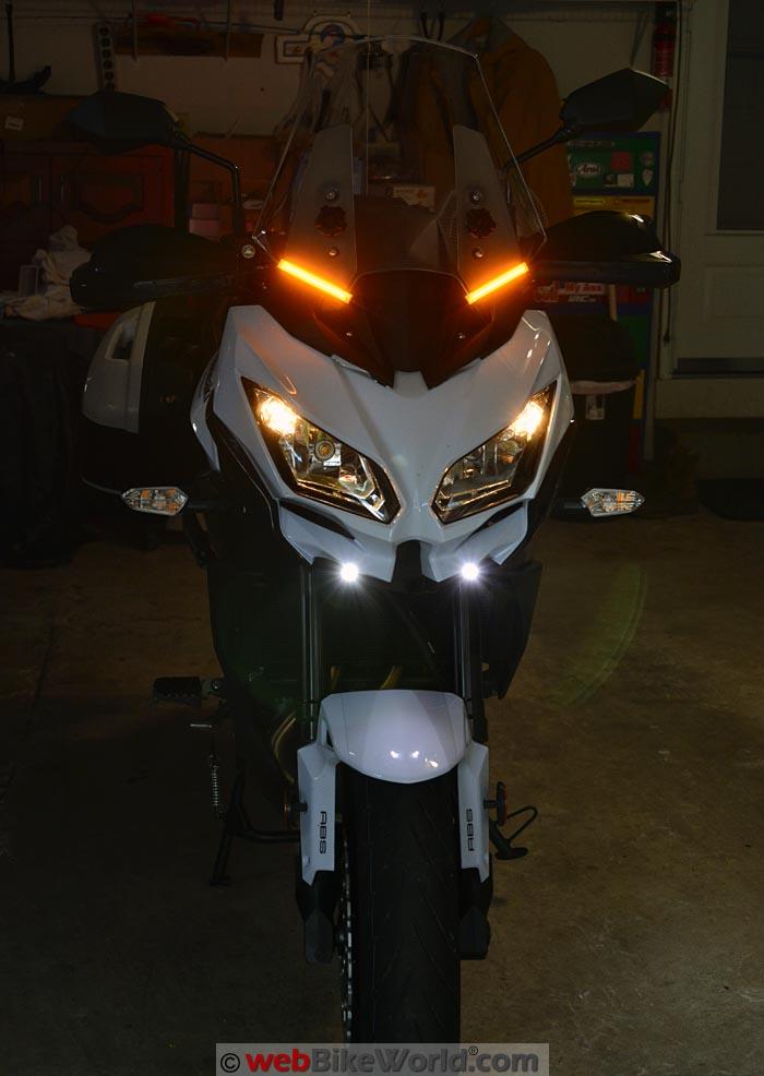AdMore Amber LED Array on Kawasaki Versys 650