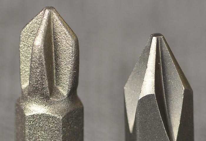 Frearson F2 vs. Vessell H1 Phillips Bits Close-up