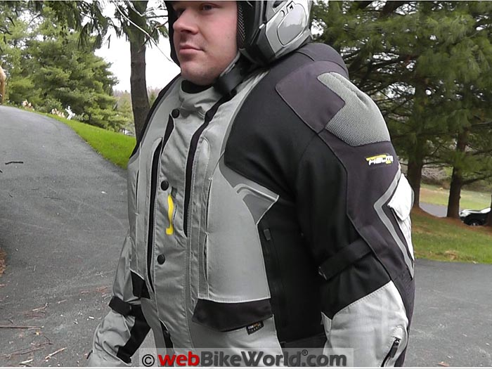 Helite Adventure Airbag Jacket Inflated Collar