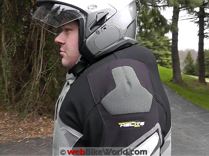 Helite Adventure Airbag Jacket Inflated Side View