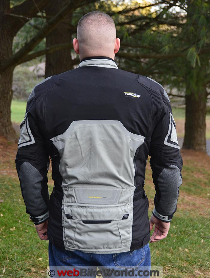Helite Adventure Airbag Jacket Rear View