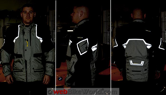 Helite Adventure Airbag Jacket Reflectivity