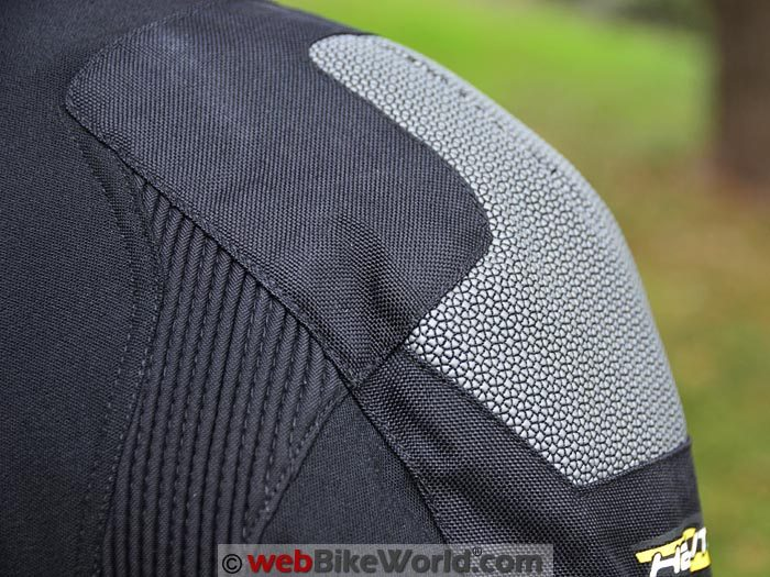 Helite Adventure Airbag Jacket Superfabric on Shoulder