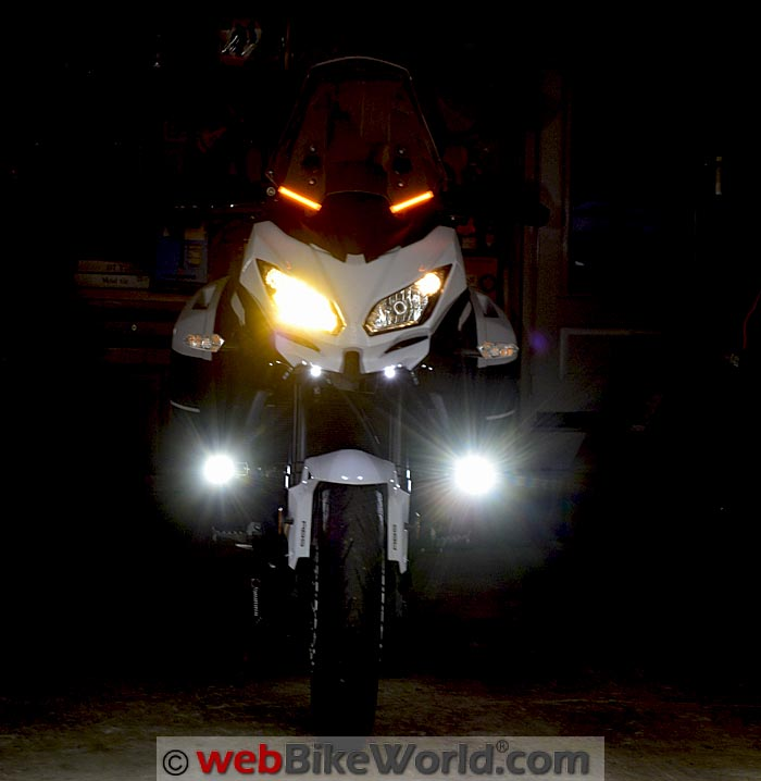 OZ LED Mini Trail Lights Versys Front View Lower