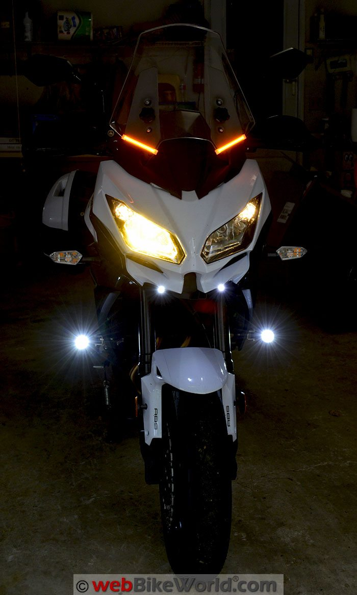 OZ LED Mini Trail Lights Versys Front View
