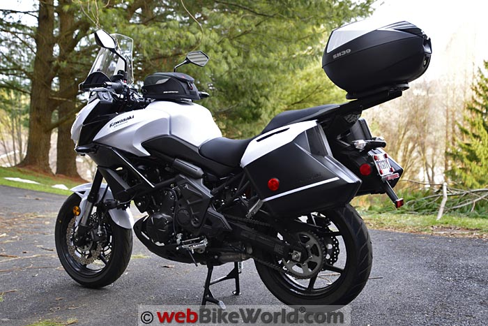 2015 Kawasaki Versys 650 LT With SHAD SH39 Top Case Left Side