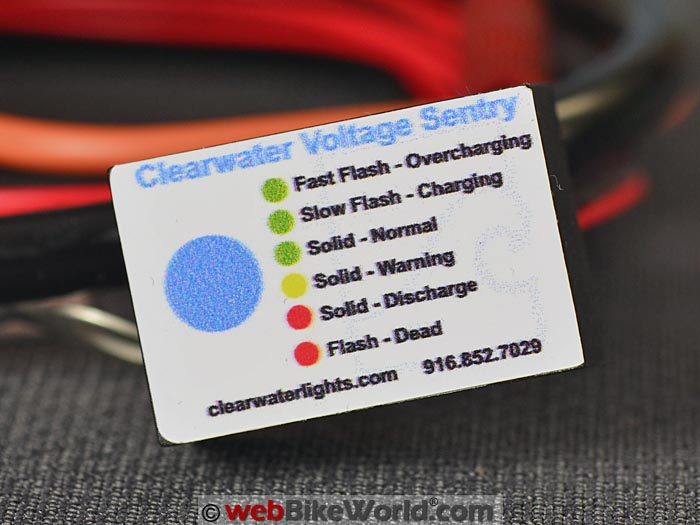 Clearwater Voltage Sentry Warning Colors