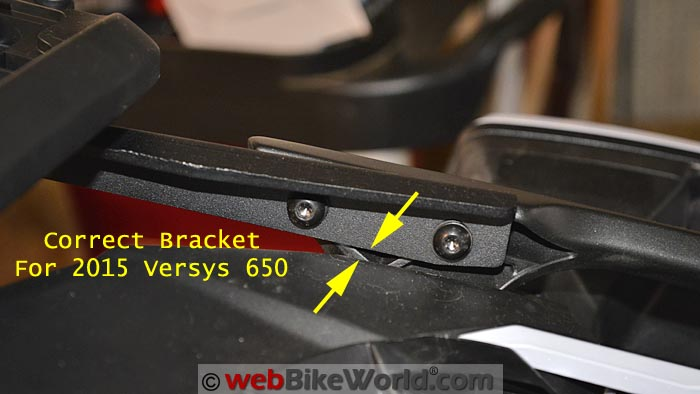 Correct SHAD Bracket for 2015 Versys 650