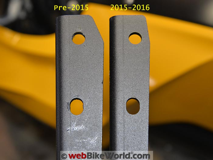 SHAD SH39 Mounting Bracket Size Comparison