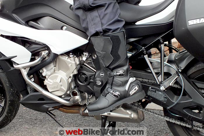 Sidi Deep Rain Boots on the Motorcycle