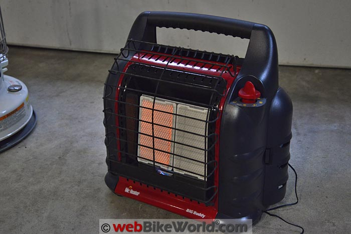 Big Buddy Heater on Low Setting