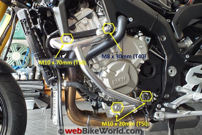 BMW Engine Guards Left Side Mounting Points
