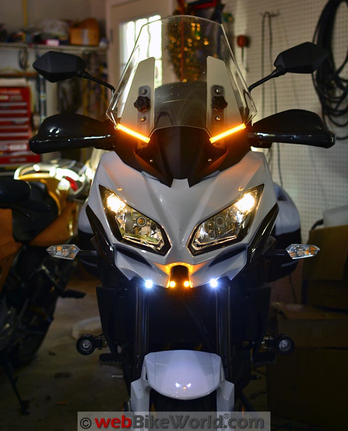 Conspicuity Lights on Kawasaki