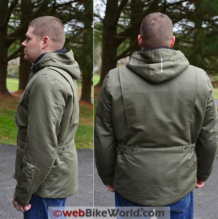 Spidi Master Combat Jacket Side Rear Views