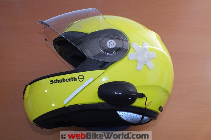 UClear Intercom on Schuberth C3 Pro Helmet