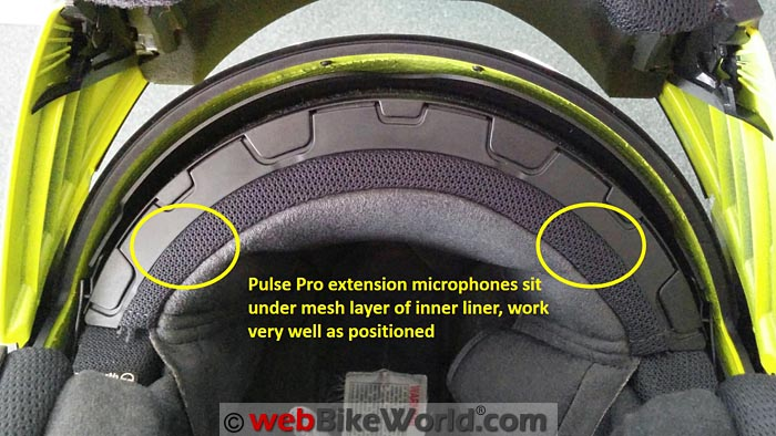 Installation of UClear Pulse Pro Microphones in Helmet