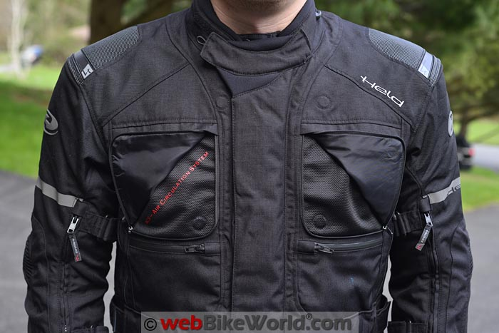 Held Carese 2 Jacket Front Vents
