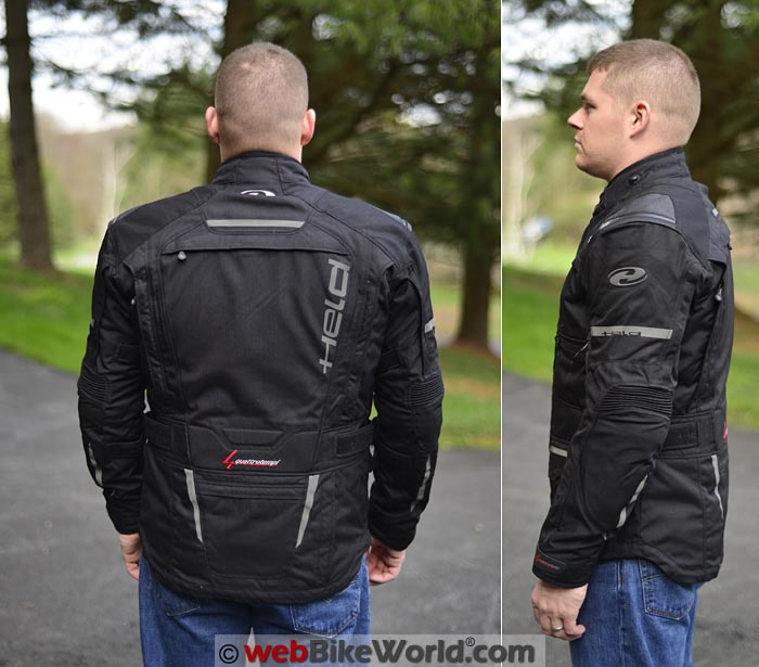 Held Carese 2 Jacket Side and Rear Views
