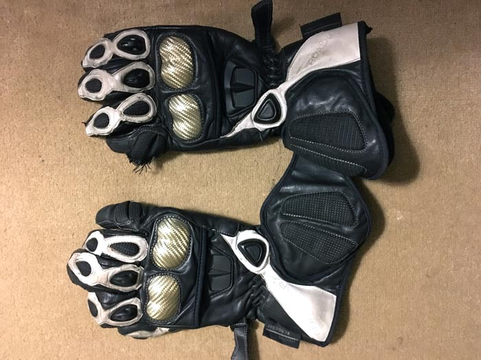 Used Roadgear Cheetah Gloves Top Side
