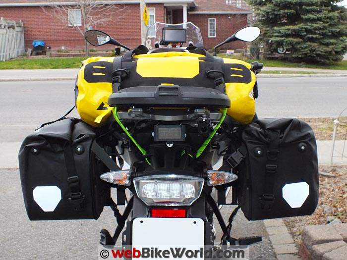 Touratech Adventure Dry Bag Rear View on Motorcycle
