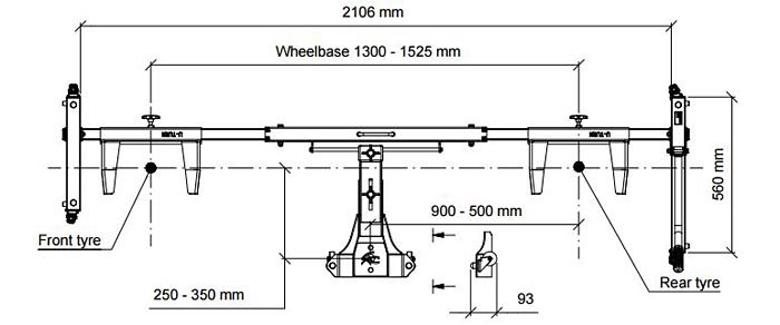 Acebikes U-Turn Motor Mover Dimensions
