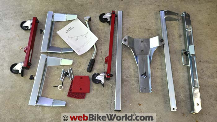 Acebikes U-Turn Motor Mover Kit Contents