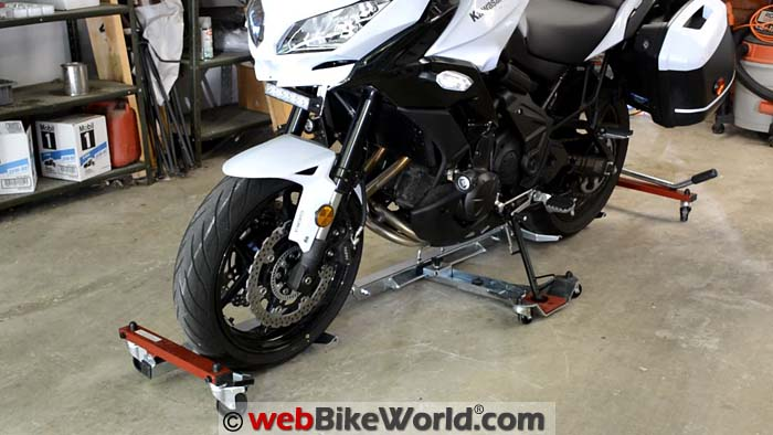Motorcycle on Acebikes U-Turn Motor Mover