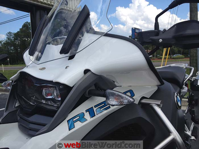 Bot Wing BMW GSA Version White Side View