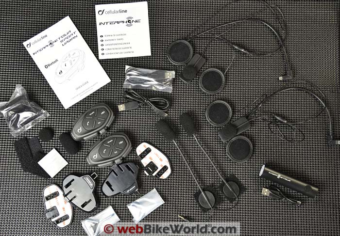 Interphone Tour Dual Kit Contents